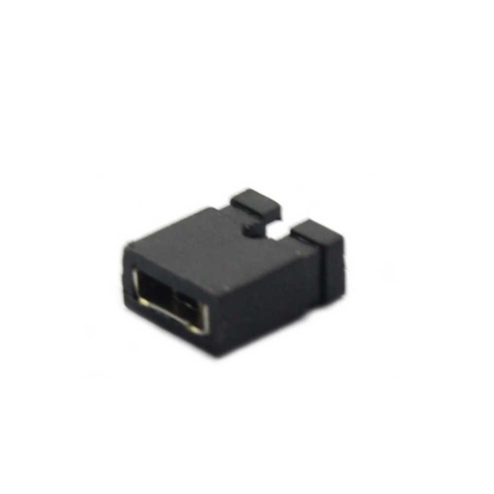 100 шт мини микро Перемычка для 2,54 мм коллектора (Шунты) короткого замыкания блок перемычка