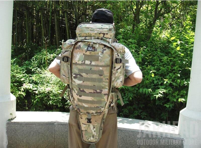 911 militar combinado mochila 60l grande capacidade