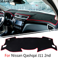 For Nissan Qashqai J11 2nd 2014 2015 2016 LHD Car Dashboard Carpet Protective Pad Interior Decoration Accessories Car-styling
