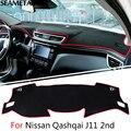 Para Nissan Qashqai J11 segundo 2014 2015 2016 LHD Painel Do Carro Tapete Almofada Protetora Acessórios de Decoração Interior Do Carro-styling