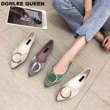 2019 New Summer Casual Shoes Women Flats Shallow Pointed Toe Moccasin Soft Ballet Flats Loafer Ladies Boat Shoe zapatos de mujer suojialun 2019 spring women flats pointed toe slip on ballet flat shoes shallow boat shoes woman loafer ladies shoes zapatos