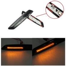 2Pcs LED Fender Side Marker Turn Signal Light Lights F10 Style For BMW E60 E82 E87 E88 E90 E91 Amber&White