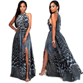 2016 New Women Long Summer Dress Retro Floral Print Vintage Dress Sleeveless Floor-Length Female Party Maxi Dress Vestidos