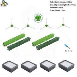11-pack запасные части для iRobot Roomba аксессуары боковая щетка для iRobot Roomba e5 e6 i7 i7 + HEPA фильтр для пылесоса