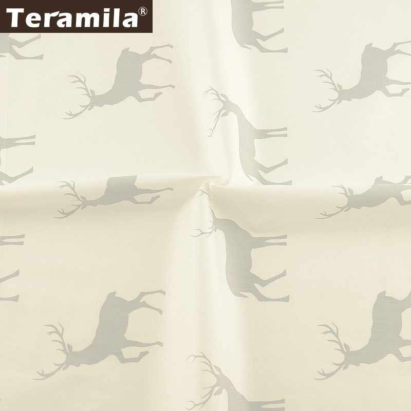 Teramila 100% Kain Katun Meter Sika Rusa Desain Telas Tissus DIY Selimut Patchwork Bedsheet Tirai Baby Dress Rumah Tekstil