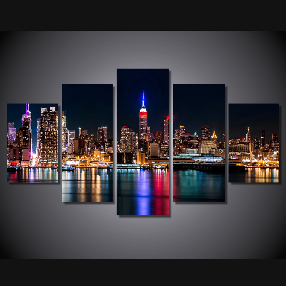 Us 5 99 40 Off Hd Printed Brooklyn Manhattan New York Painting Canvas Print Room Decor Print Poster Picture Canvas Free Shipping Ny 1810 In Painting