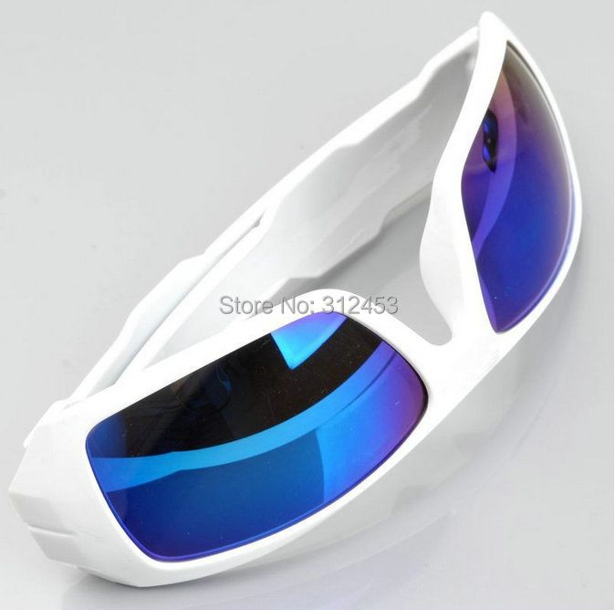 c39daee734f 2015 Hot Classic style Oil Sports Sunglasses Blue Coating Lenses Men  sunglasses Bright White Frame Sun glasses-in Sunglasses from Apparel  Accessories on ...