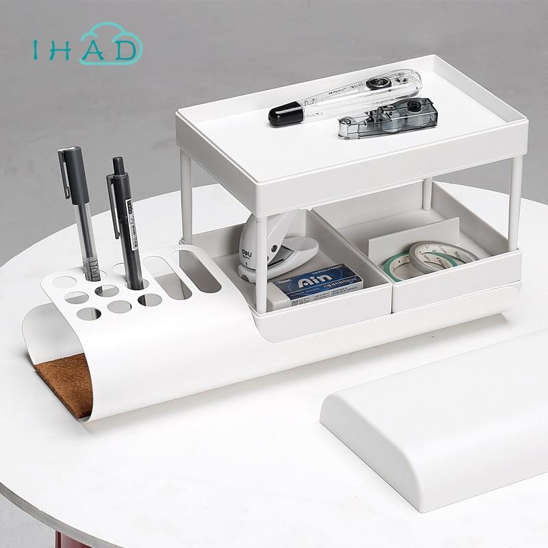 Creative Fashion office storage box Multifunction pen holder finishing the desktop makeup organizer for bathroom assemble casket