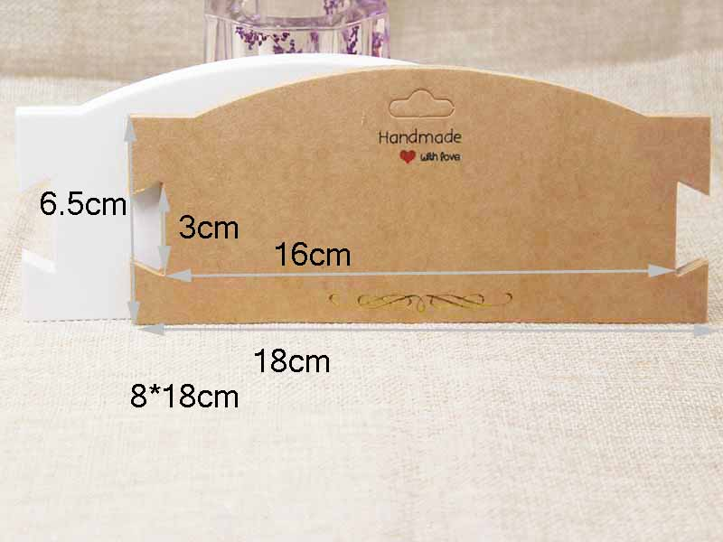 Paper Gold Foil Big Hair Band Card.DIY Handmade  Jewelry Packing Card .hair Clip.bracelet Packing Display Tag Card100PCS