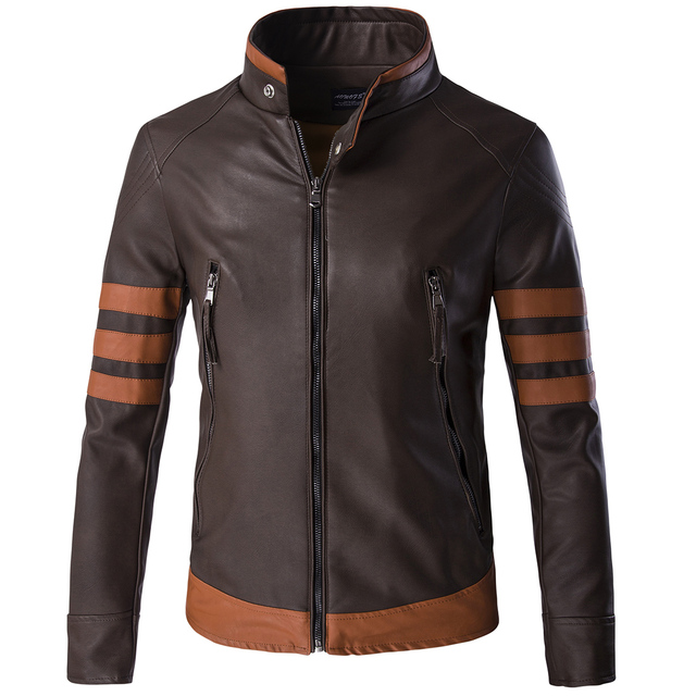 2016 Fashion Faux Leather Pu Standard Mens Leather Jackets And Coats Leather Jackets Motorcycle Jacket 10PCS/lot Wholesale