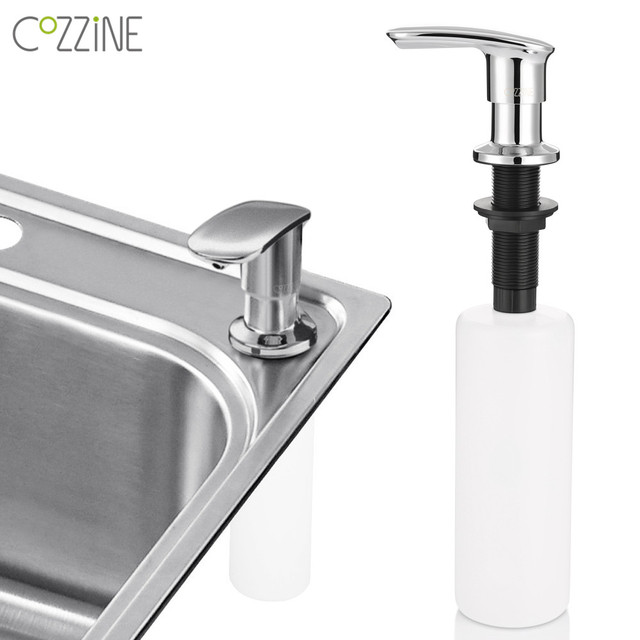 kitchen hand soap outdoor table cozzine zinc alloy sink cleaner dispenser bathroom dispensers spray liquid