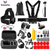 SnowHu Portable Mini Box EVA Black Camera Bag Case For Gopro Hero 5 4 3 Xiaomi