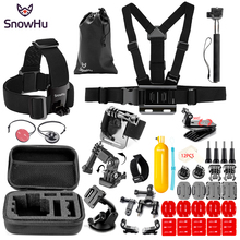 SnowHu Portable Mini Box EVA Black Camera Bag Case For Gopro Hero 7 6 5 4 Xiaomi Yi 4K SJCAM SJ4000 for Go Pro Accessories SH89V