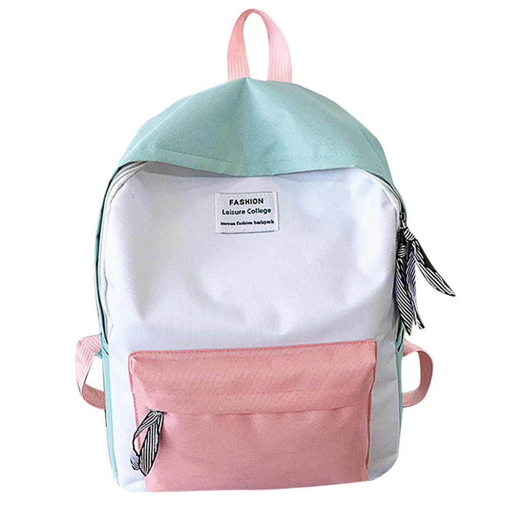 OCARDIAN Backpack-Collection Schoolbag Couple Luminous-Bag Color-Block Travel Teenage-090227