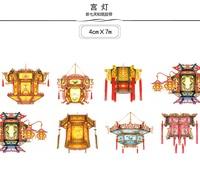 1Roll 40mmx7m HighQuality Lantern Pattern Japanese Washi Decorative Adhesive Tape DIY Masking Paper Tape Label Sticker
