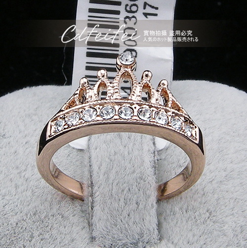 2017 New Sale Real Brand TracyKwok Rings for women Genuine austrian crystal Gold Color Fashion ring healthy Zirconia #RG94929