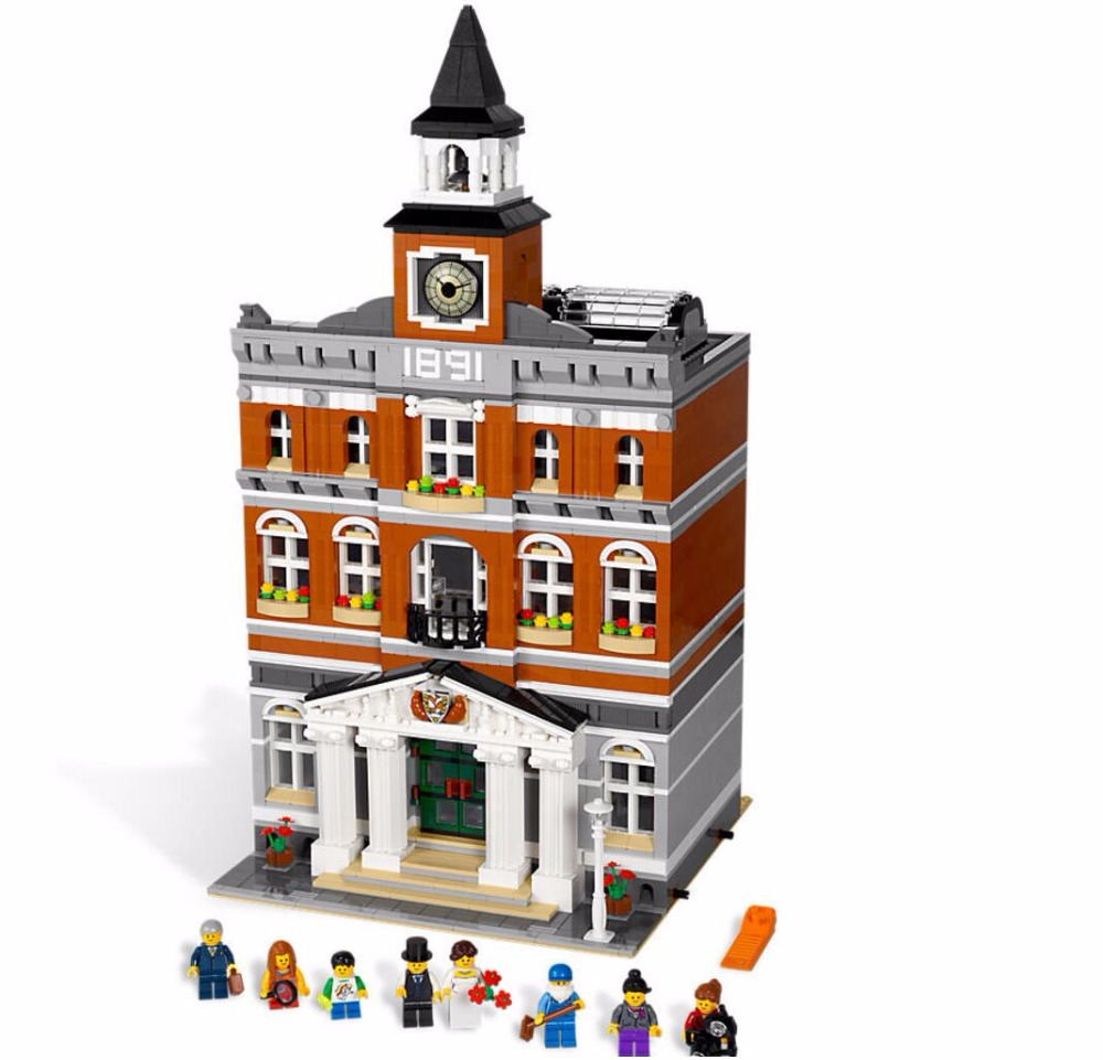 LEPIN 15003 2859PCS City Town Hall Sets Model Building Kits Set Blocks Children Toys Compatible With 10224 lepin 1767 city town city square building blocks sets brick kid model kids toys for children marvel compatible bela diy gift toy