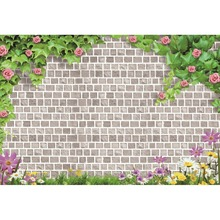 Laeacco Brick Wall Flower Leave Scenic Baby Natural Portrait Photography Background Photographic Vinyl Backdrop For Photo Studio стоимость