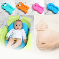 CACX Newborn Baby Foldable Bath Tub Pad Infant Safety Shower Antiskid Cushion Infant Support Cushion Mat Bath Mat Toddler Bloom
