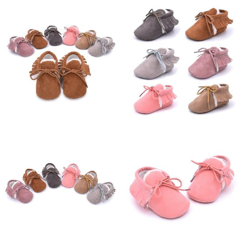 Toddlers Prewalker PU Leather Boy Girl First Walkers Soft Sole Footwear Infant Kids Crib Shoes For 0-1 Year Baby FJ88