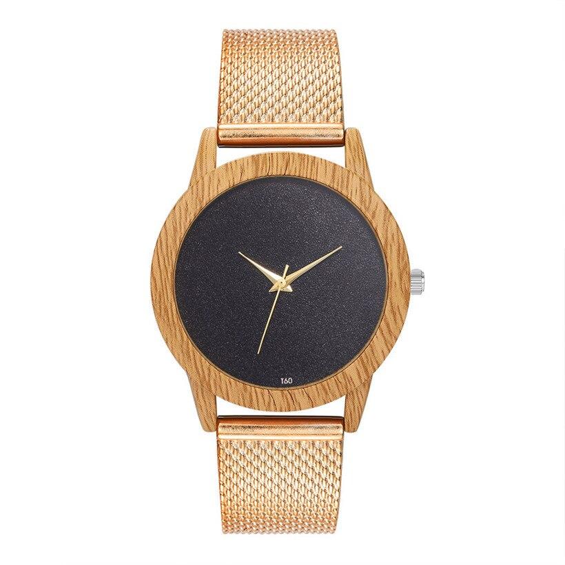 Creative Watches Women Plastic Band Bamboo Case Lady Wrist Watch Wooden Light Black Dial Modern New Style Analog Clock Наручные часы