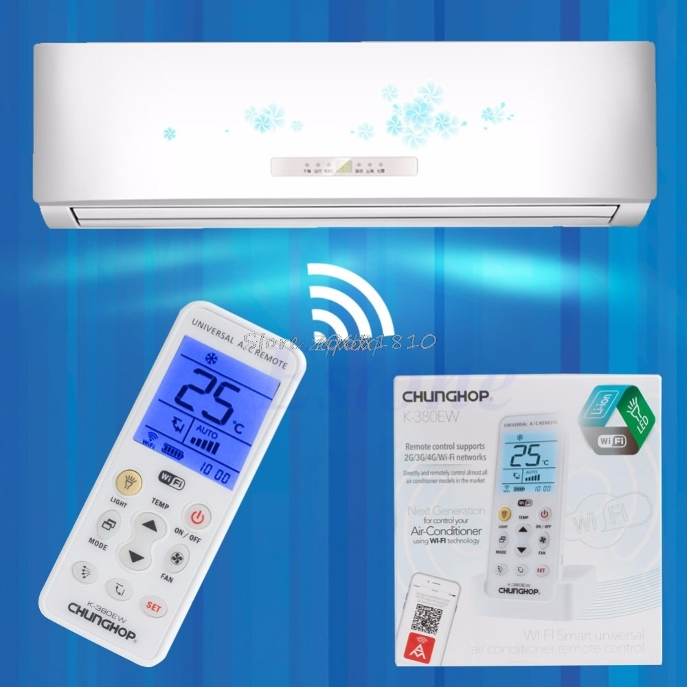 Universal Wifi Smart Remote Control LCD A/C Muli Controller For Air Conditioner Z09 Drop ship universal 1 5 lcd air conditioner a c remote control controller white 2 x aaa