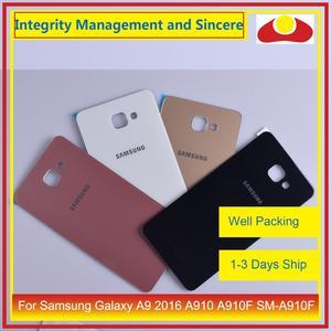 Image 3 - Oryginał do Samsung Galaxy A9 Pro A910 A9100 A910F obudowa klapki baterii tylna część obudowy obudowa Shell wymiana