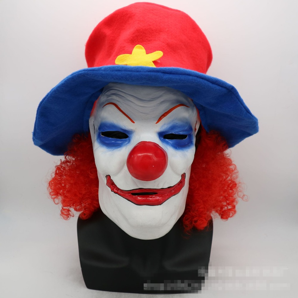 Masquerade mask and horror and funny clown latex mask for role playing costumes / Halloween party dance decorations