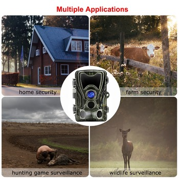 Goujxcy HC801 Hunting Camera 20MP Trail Camera Night Vision Forest Waterproof Wildlife Camera Photo Traps Camera Chasse Scouts 6