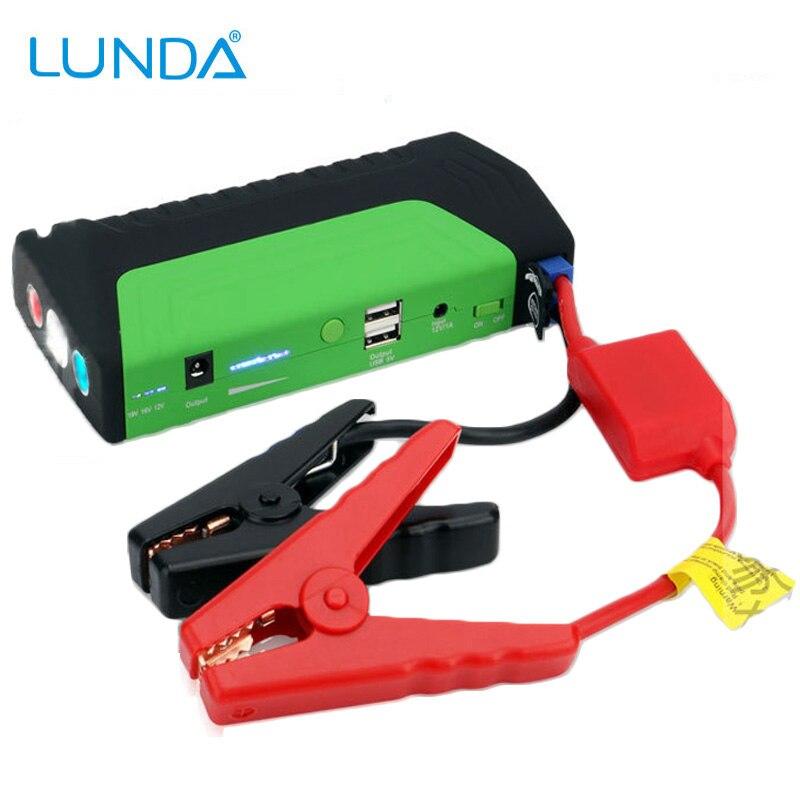 Prix pour LUNDA Batterie De Voiture 12 V Jump Starter Booster Source D'alimentation D'urgence Auto Start Puissance Haute Capacité Banque