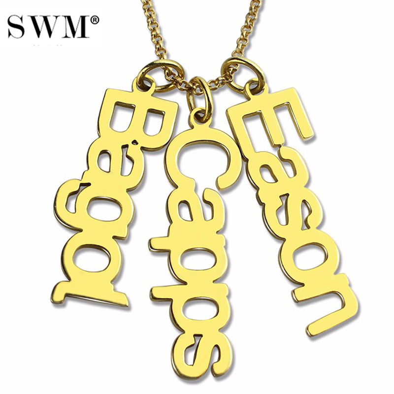 78d6ca585dacd US $34.59 27% OFF|Wholesale Women Personalized Multi Name Necklace Costume  Vertical Nameplate Necklaces Gold Pendant Chains Gift for Mom Collana-in ...