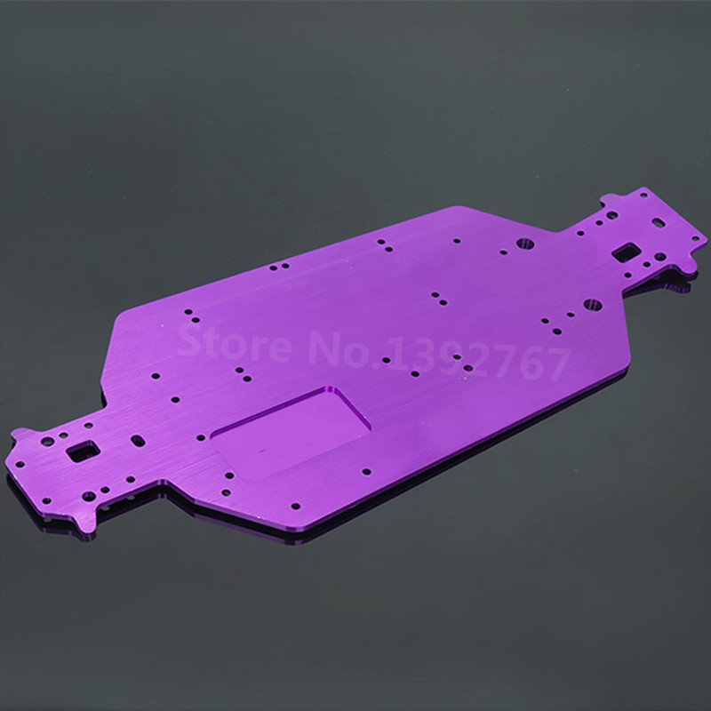 04001 6061 <font><b>03601</b></font> Aluminum Alloy Metal Chassis For 1/10 Scale Models RC Car HSP 94107 94110 94115 Off-Road Truggy Truck image