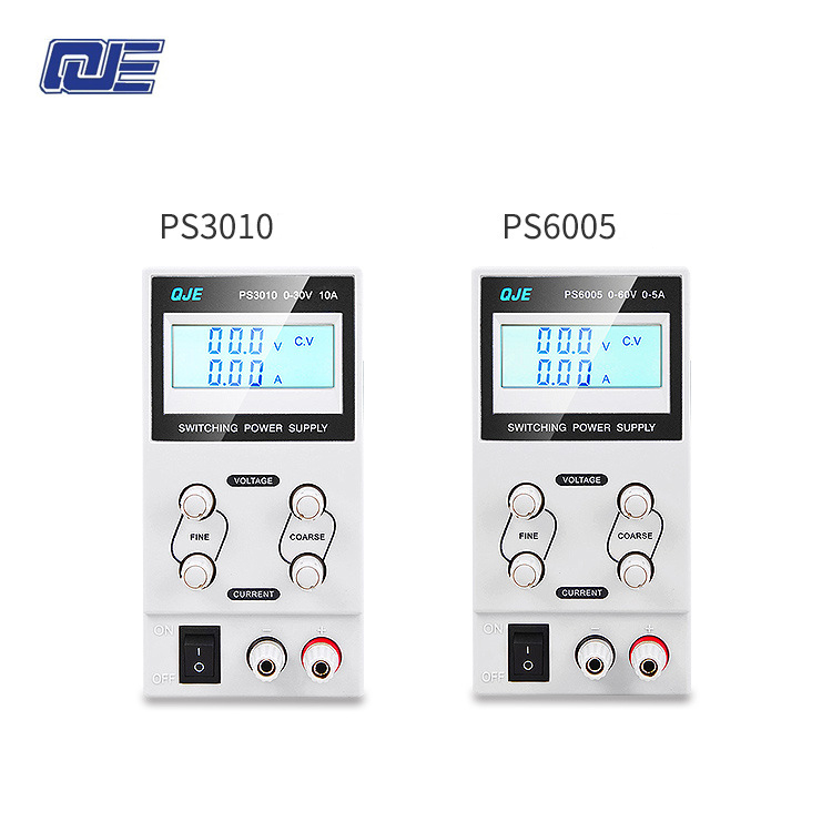 QJE PS3003 / PS3005 / PS6005 / PS3010 Professional LCD Digital Adjustable DC Power Supply Laboratory Switching Power SupplyQJE PS3003 / PS3005 / PS6005 / PS3010 Professional LCD Digital Adjustable DC Power Supply Laboratory Switching Power Supply
