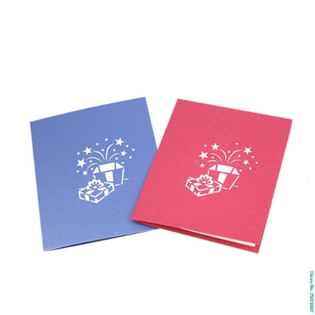 Gift Box Wedding Invitations: New Arrive Gift Box Greeting Cards Handmade Birthday