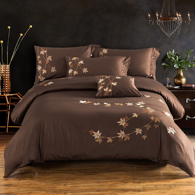 Embroidery Luxury Silk Bedding set