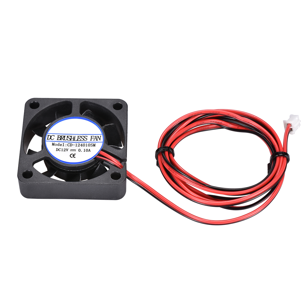 DC12V 40x40x10mm Brushless Cooling Fan 2pin Computer//RepRap 3D Printer Connector