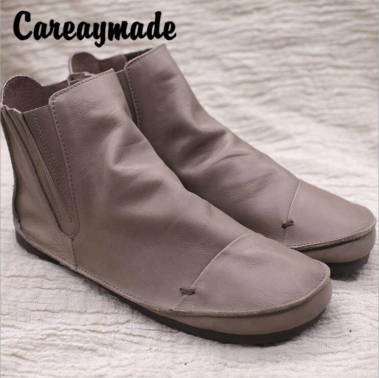 цена Careaymade-Genuine leather women's shoes, original artistic handmade Martin boots, comfortable wild flat bottomed antique boots в интернет-магазинах