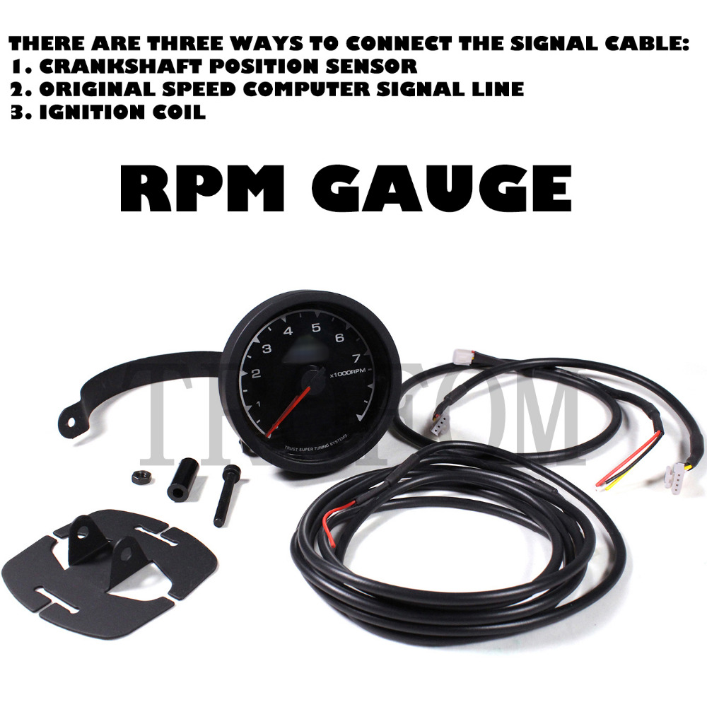 1990 Jeep Yj Wiring Diagram Rpm Gage Starter Relay Auto Gauge Aliexpress Com Buy Universal Electronic Racing Car 1989