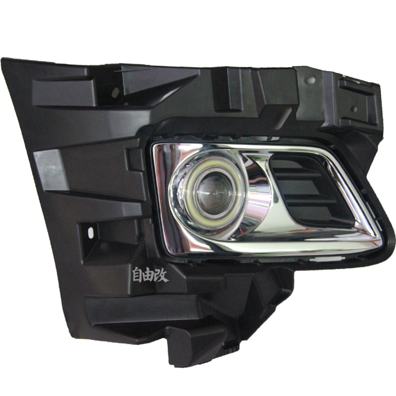 eOsuns Innovative COB angel eye led daytime running light DRL + halogen Fog lamp + Projector Lens for TOYOTA Alfa