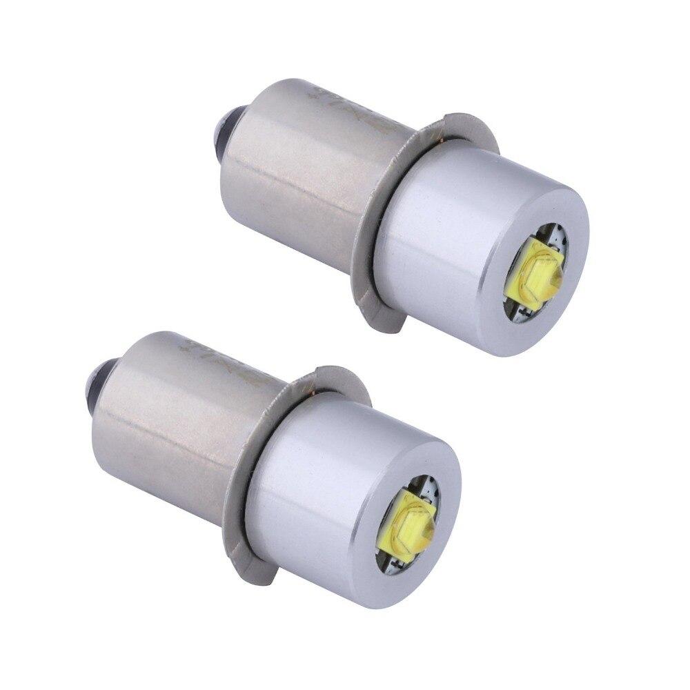 2 шт. P13. 5S база PR2 высокомощная светодиодная обновленная лампа для Maglite, Сменные лампы, набор светодиодных преобразователей для фонарей C/D