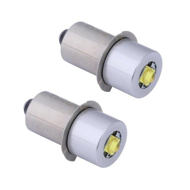 2 uds P13. Base de 5S PR2 bombilla de actualización LED de alta potencia para Maglite, bombillas de repuesto Kit de conversión Led Fot C/D Flashlights antorcha