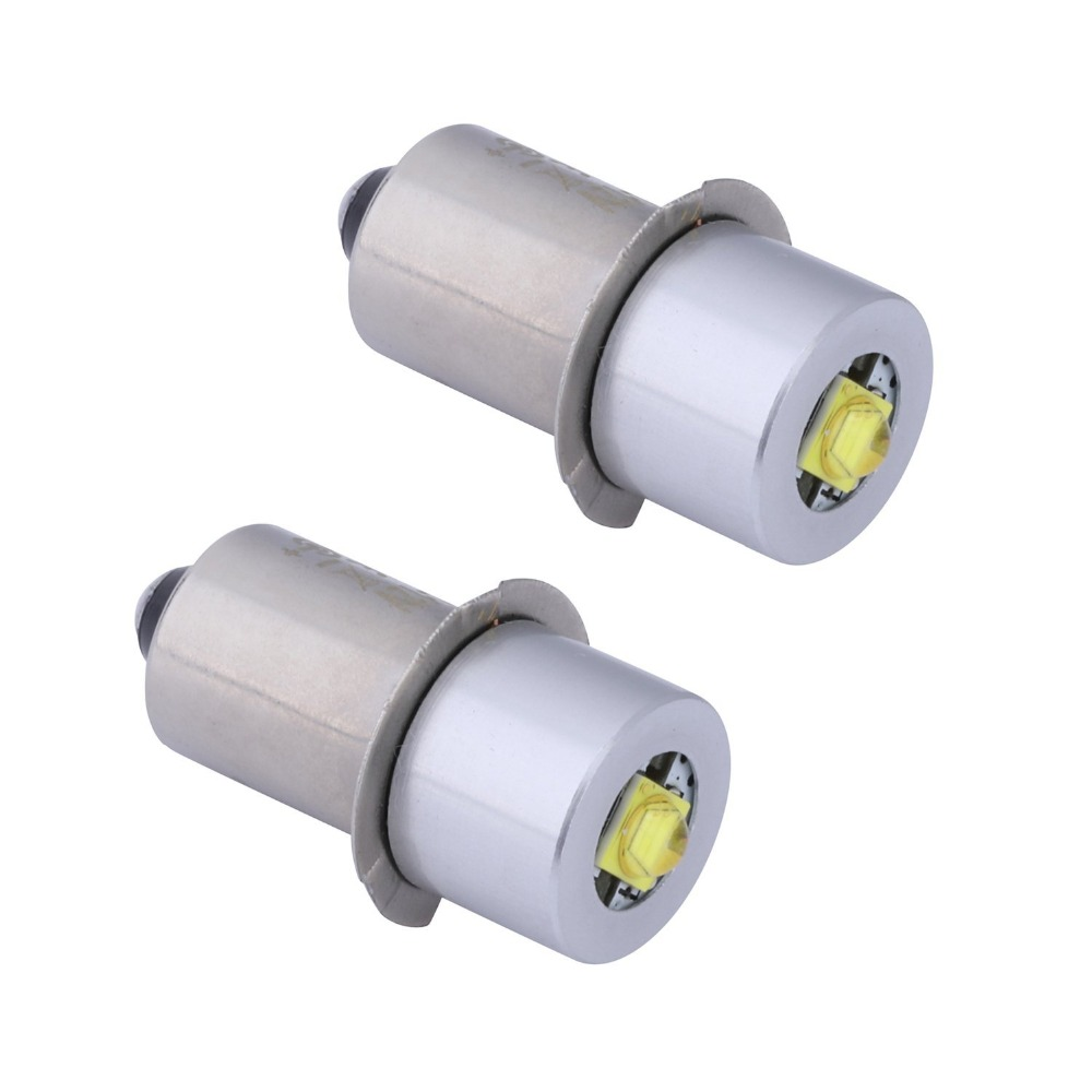2PCS P13.5S Base PR2 High Power LED Upgrade Bulb For Maglite, Replacement Bulbs Led Conversion Kit For C/D Flashlights Torch