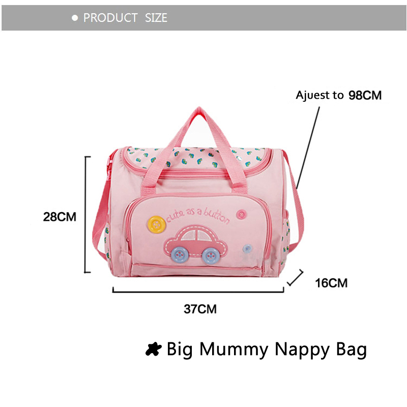 PROMOTION! 4pcs/set Diaper Mats Designer Maternity Nappy Bags Mummy Baby Shoulder Bag Bolsas Mom Baby Cantasi Free Shipping