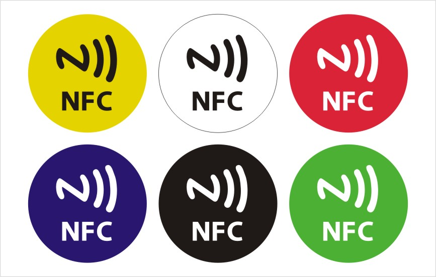 6pcs/Lot NTAG213 NFC adhesive sticker for all nfc products dia 30mm