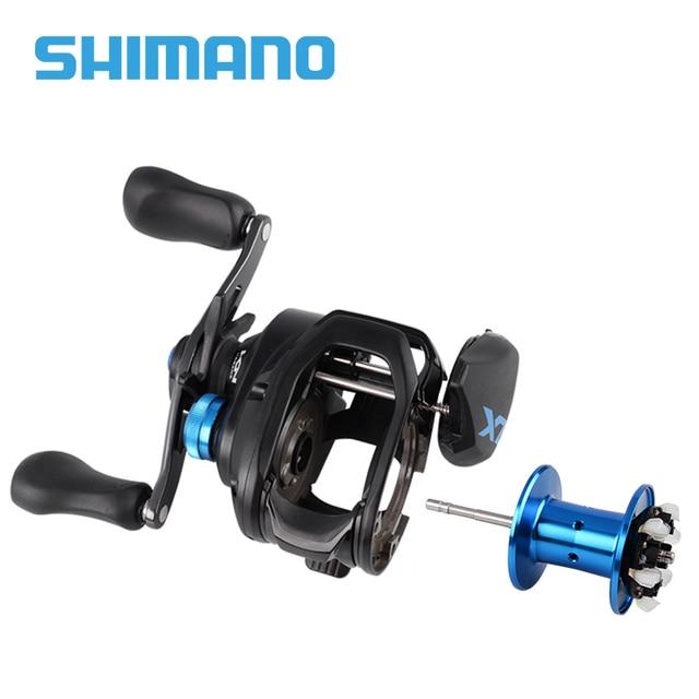 Катушки SHIMANO SLX Катушки baitcast 3 + 1BB 6,3 1/7. 21/8,2 1 Низкопрофильная Рыболовная катушка, правостороннее левое рыболовное колесо