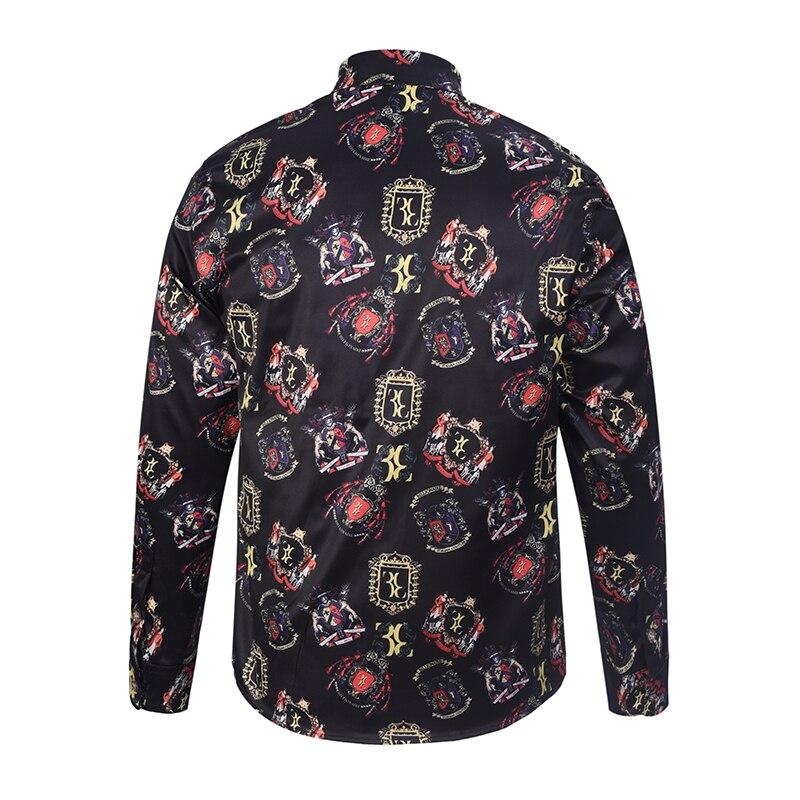 Buy 3d printed floral pattern shirts men for Patterned dress shirts for men