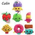 7 pçs/lote Brinquedos De Pelúcia Frutas Maçã Morango Batom Chocolate Muffin Biscoitos Rosquinhas Brinquedos para Menina Dolls & Stuffed Wj185