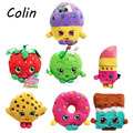 7pcs/lot Fruit Plush Toys Strawberry Apple Cookies Donuts Lipstick Chocolate Muffin Toys for Girl Dolls & Stuffed Wj185