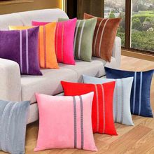 Meijuner New Flannel Pillowcase Warm Solid Candy Color Soft Velvet Cushion Cover Square Waist Throw  Pillow Gifts MJ018