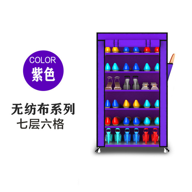 FREE shipping 6 Tier  Non-woven Homestyle Shoe Cabinet Shoes Racks Storage Large Capacity Home Furniture Diy Simple